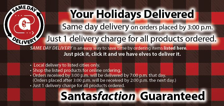 same day delivery - variety of items