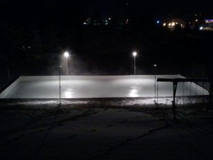 Hockey ice rink example