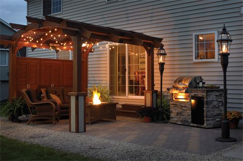 Outdoor Pergola With Pavers
