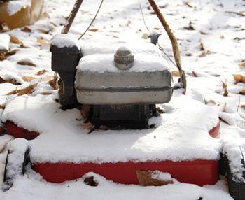 SnowCovered Mower