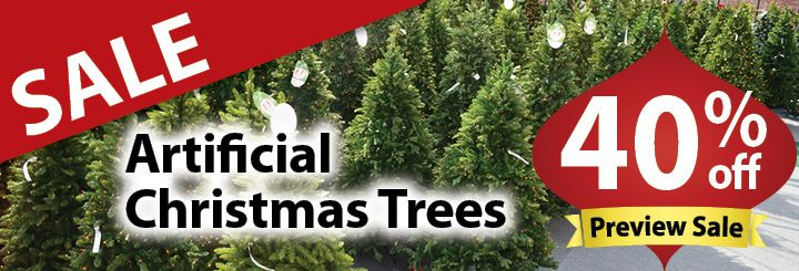 artificial christmas tree sale 40% off