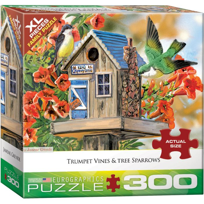300-Piece EuroGraphics Trumpet Vines and Tree Sparrows Puzzle